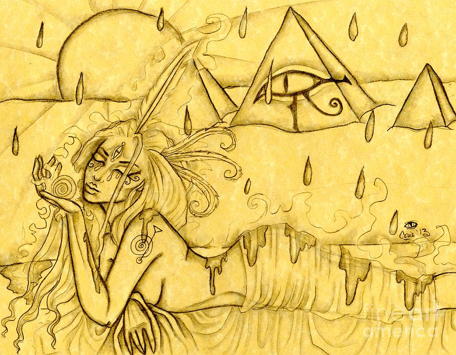Egypt Drawing - Egypt by Coriander  Shea
