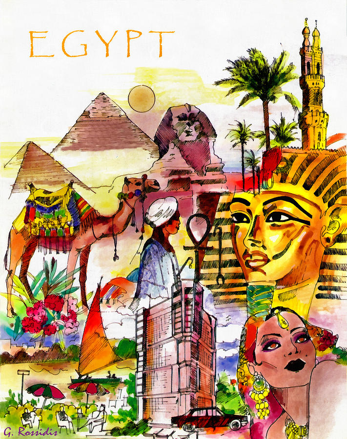 Egypt Painting - Egypt by George Rossidis