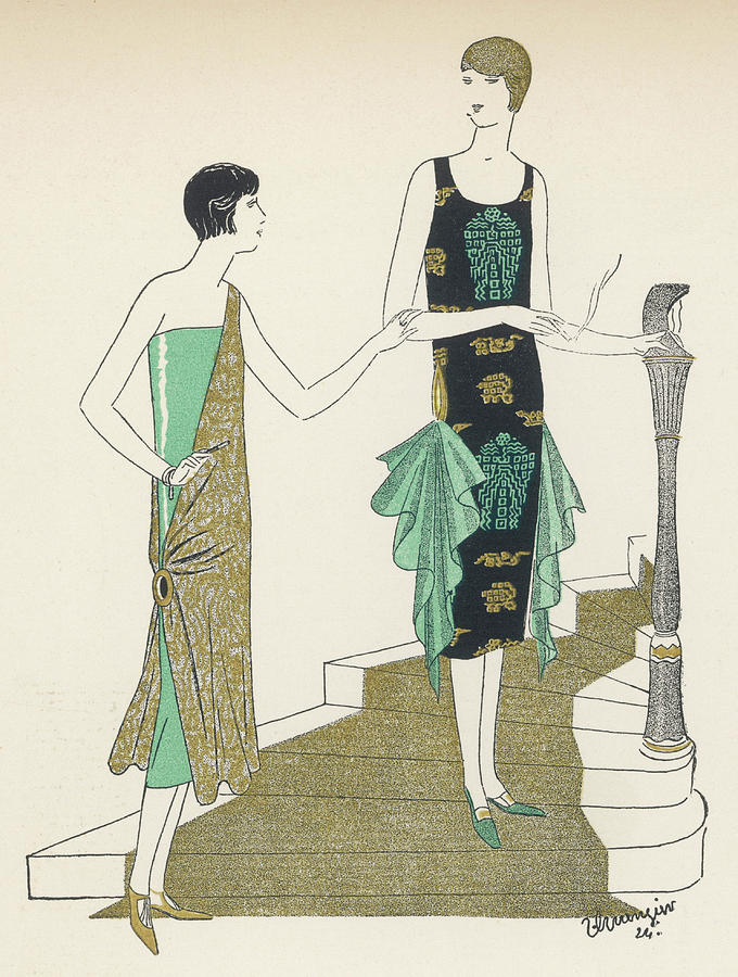 Egyptian Drawing - Egyptian Influence by Mary Evans Picture Library
