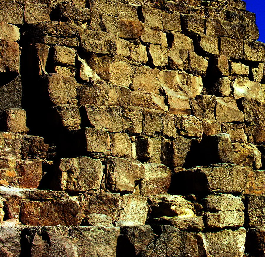 Pyramid Of Giza Photograph - Giza Pyramid - Detail by Jacqueline M Lewis