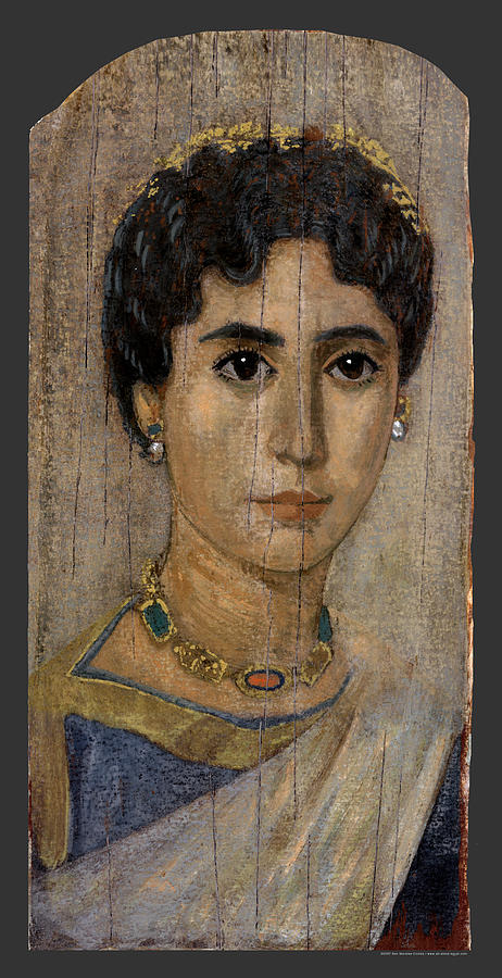 Egyptian-roman Lady Mummy Portrait Painting by Ben Morales ...