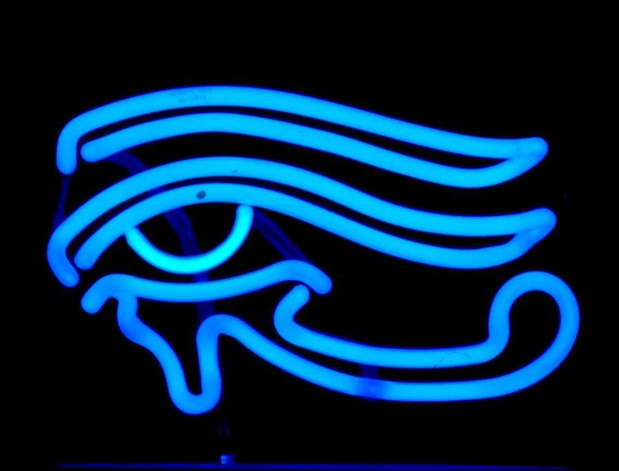 Neon Sculpture - Egyptian Secret Eye by Pacifico Palumbo