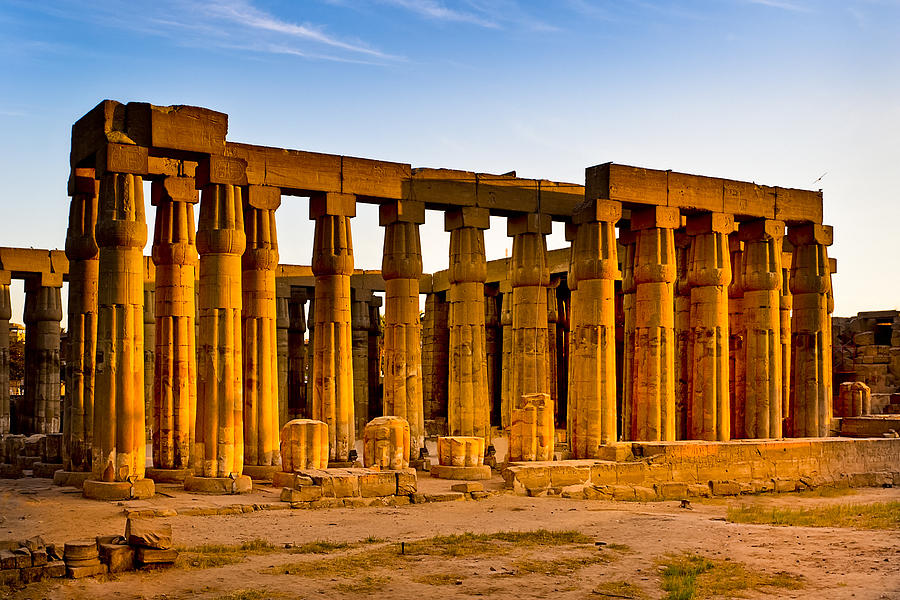Egyptian Temple Photograph - Egyptian Temple Ruins In Luxor by Mark E Tisdale