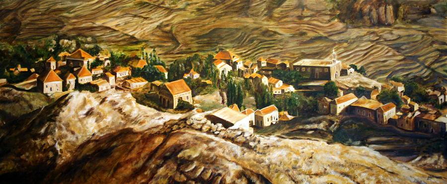 Lebanon Painting - Ehden Lebanon by Lyndsey Hatchwell