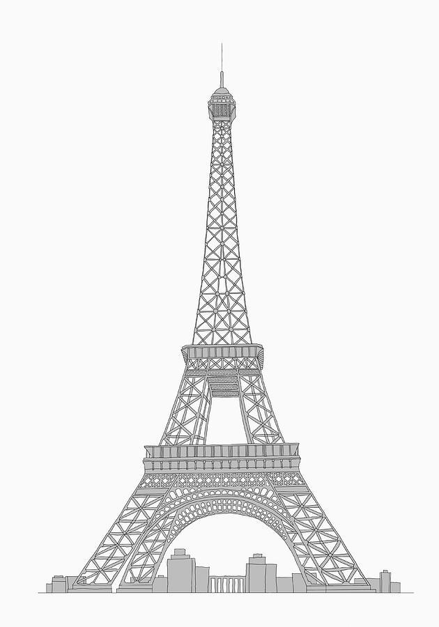 Eifel Tower Digital Art by Malte Mueller