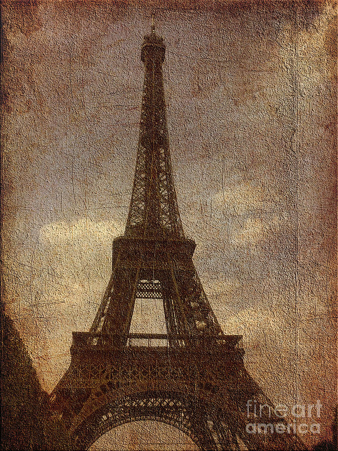 Paris Digital Art - Eiffel by Soumya Bouchachi
