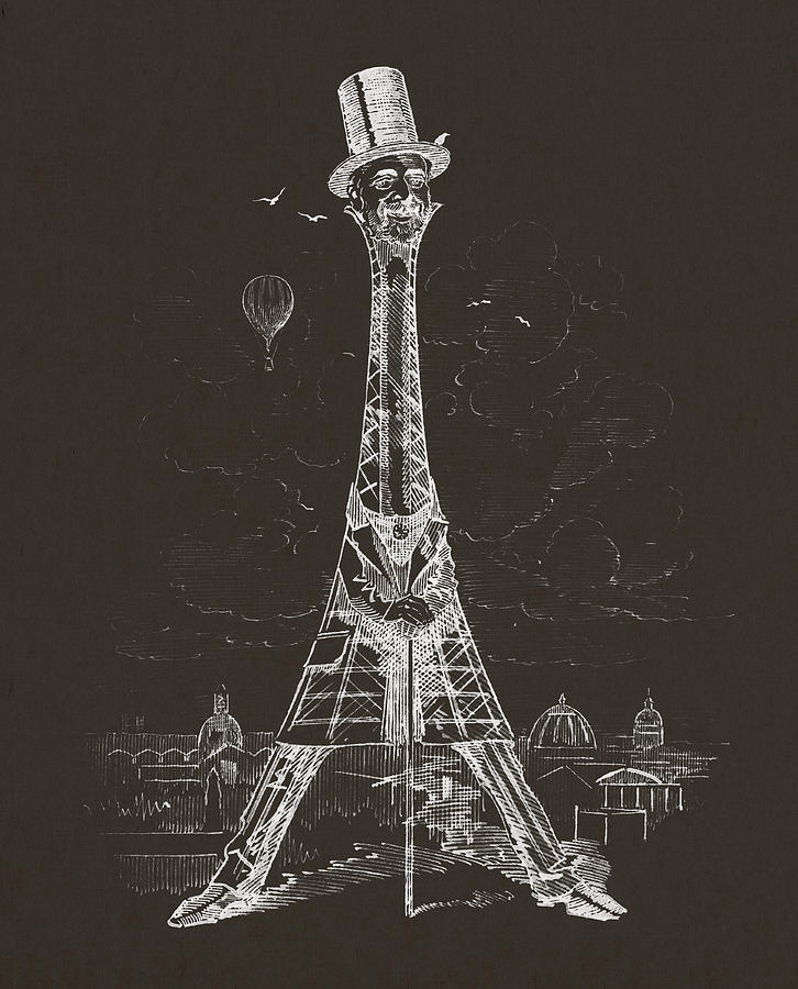 Eiffel Tower Digital Art - Eiffel Tower by Aged Pixel
