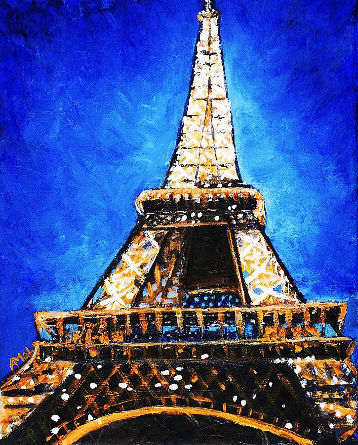eiffel tower painting by anastasiya malakhova