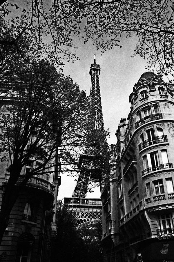 Paris photograph eiffel tower black and white by andrew fare