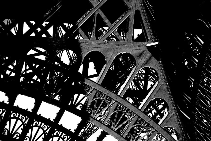 Eiffel Tower Photograph - Eiffel Tower Bw by Jacqueline M Lewis