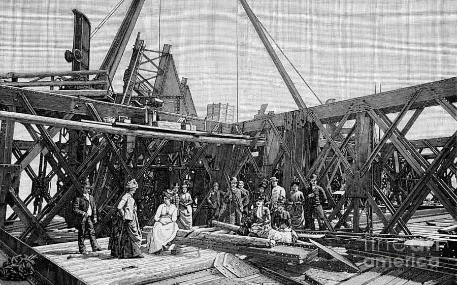 eiffel tower construction spring 1887 photograph by deb schense. Black Bedroom Furniture Sets. Home Design Ideas