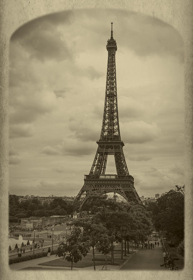 Champs Photograph - Eiffel Tower by Debra and Dave Vanderlaan