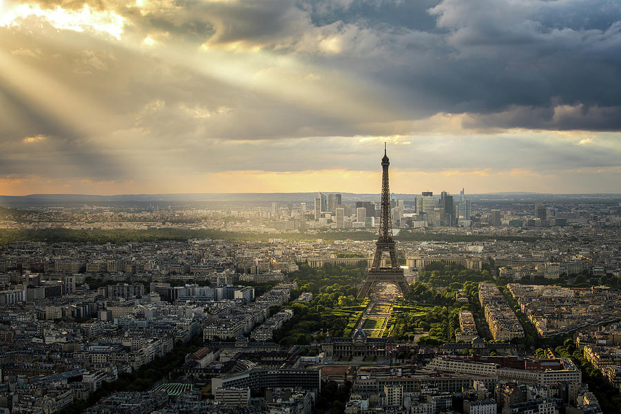 Eiffel Tower From Montparnasse Photograph by Thanapol Tontinikorn