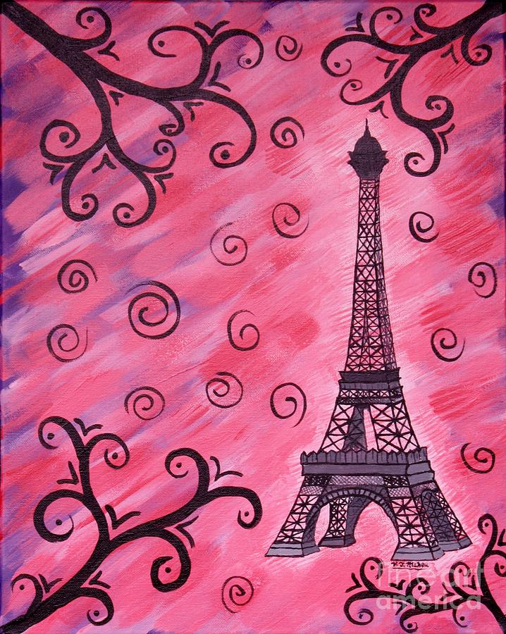 Eiffel Tower in Pink by Vicki Maheu
