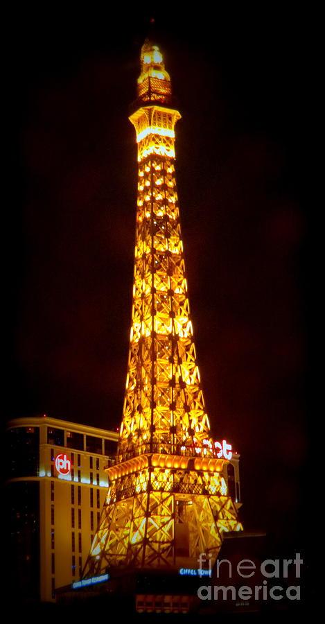 Paris Photograph - Eiffel Tower Las Vegas Nevada by Kay Novy