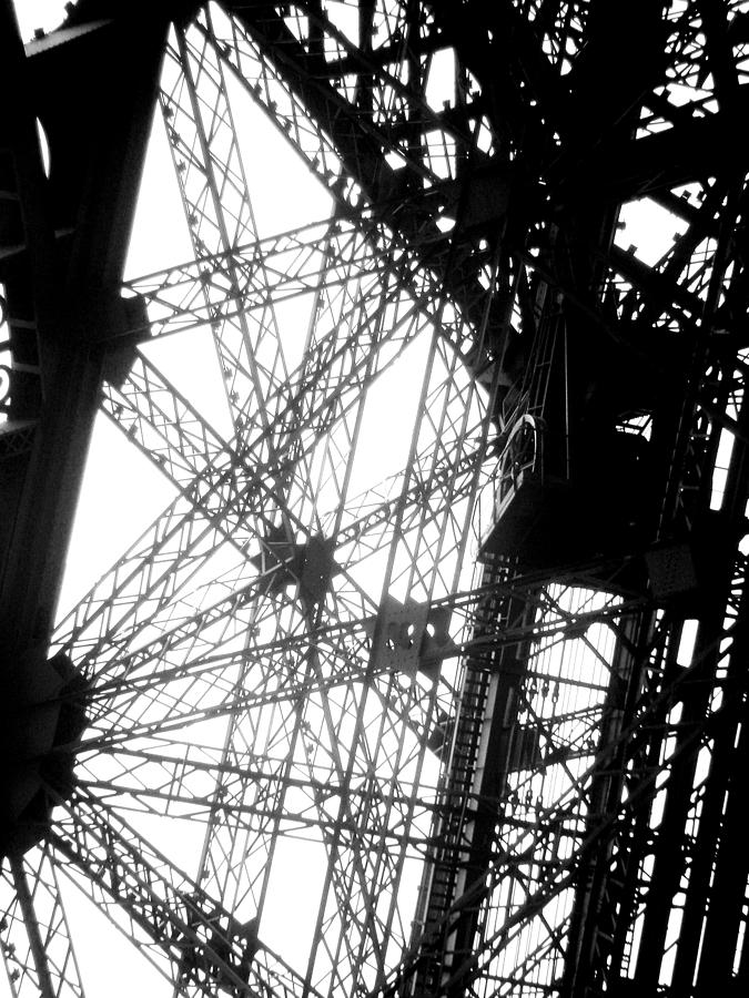 Eiffel Tower Photograph - Eiffel Tower Lift by Rita Haeussler