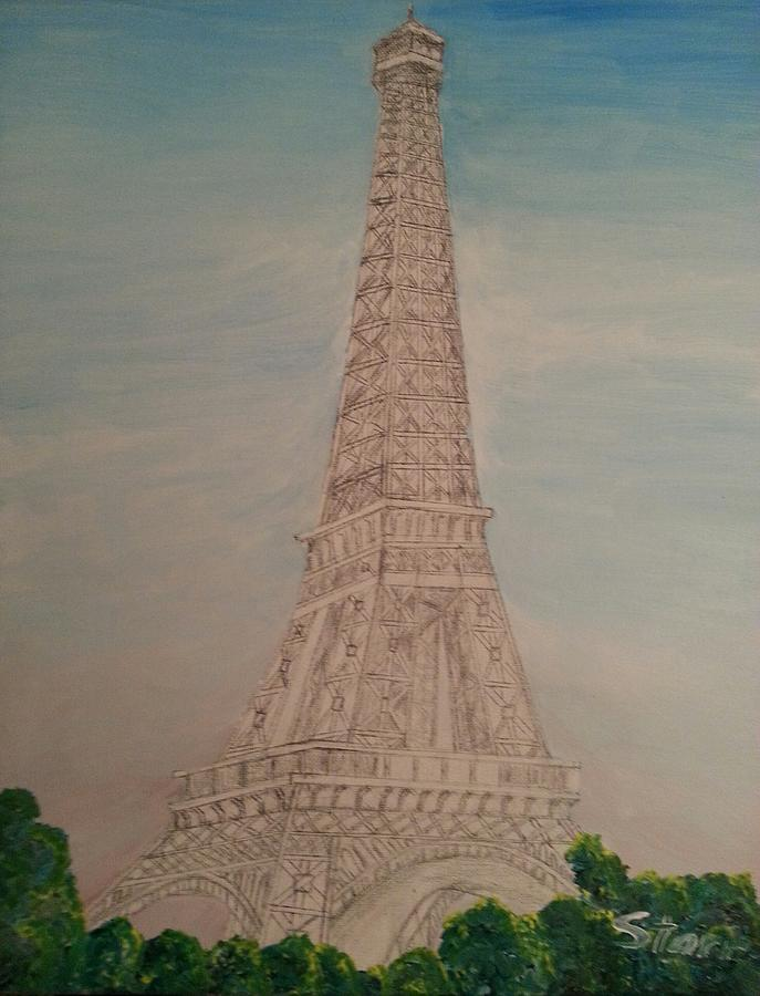 Eiffel Tower Morning Mm Painting