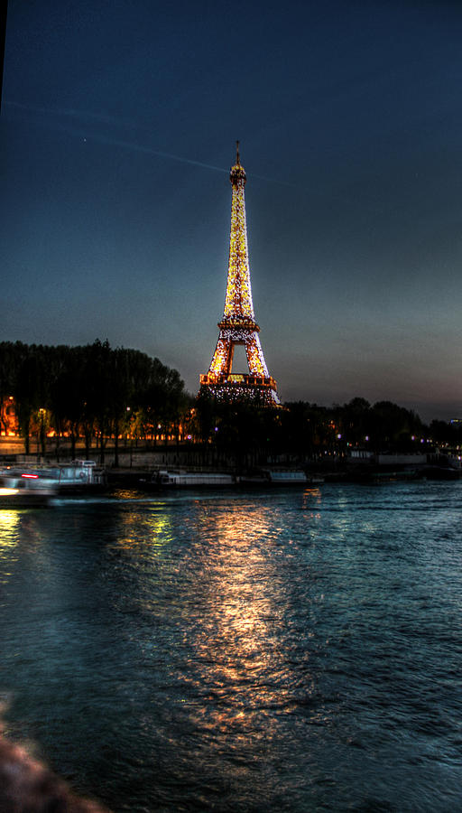 Eiffel Tower Photograph - Eiffel Tower Night Time by Steve Ellenburg