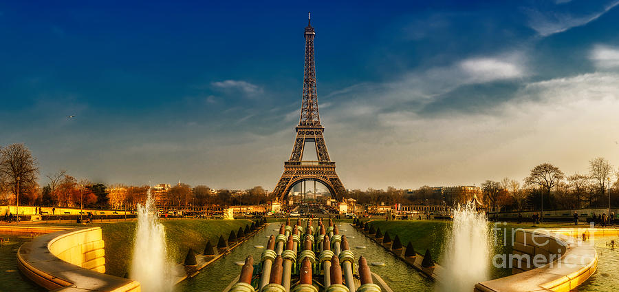 Paris Photograph - Eiffel Tower Panorama by ARTSHOT  - Photographic Art