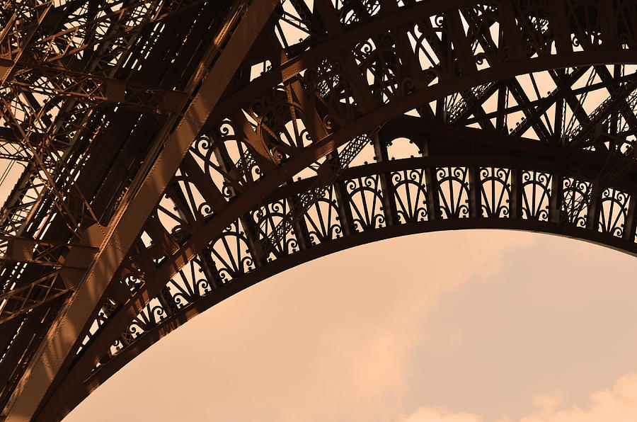 Digital Image Photograph - Eiffel Tower Paris France Arc by Patricia Awapara