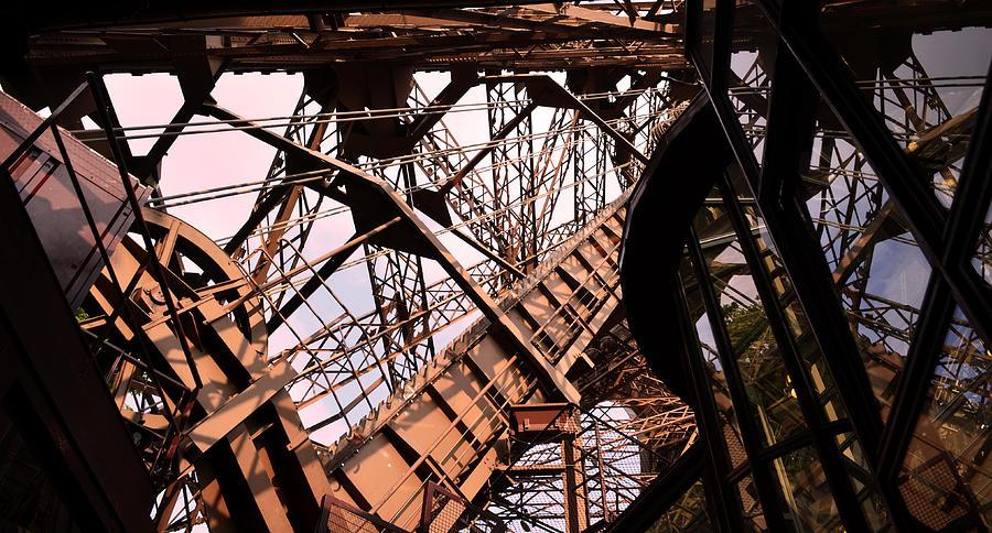 Digital Image Photograph - Eiffel Tower Paris France Close Up by Patricia Awapara