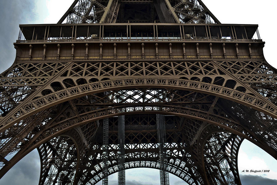 Eiffel tower the forgotten names photograph by allen for Names of famous towers