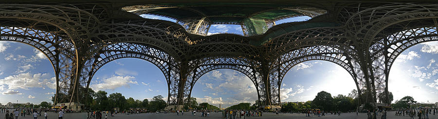 Panoramic Photographs Photograph - Eiffel Tower Unwrapped by Gary Lobdell