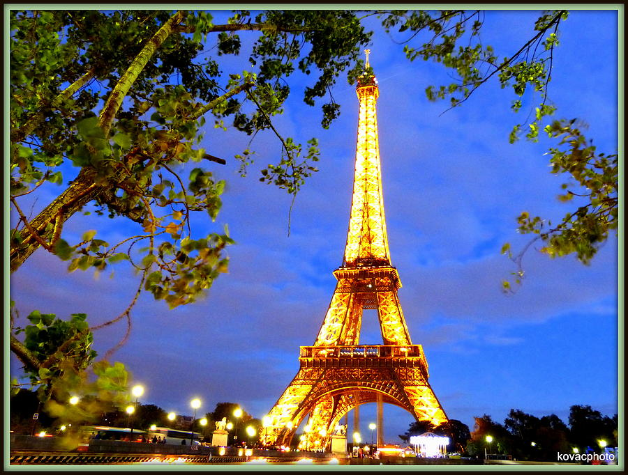 Paris Photograph - Eiffels Tower by David Kovac