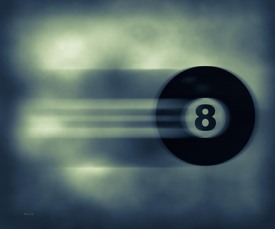 Eight Photograph - Eight Ball In Motion by Bob Orsillo