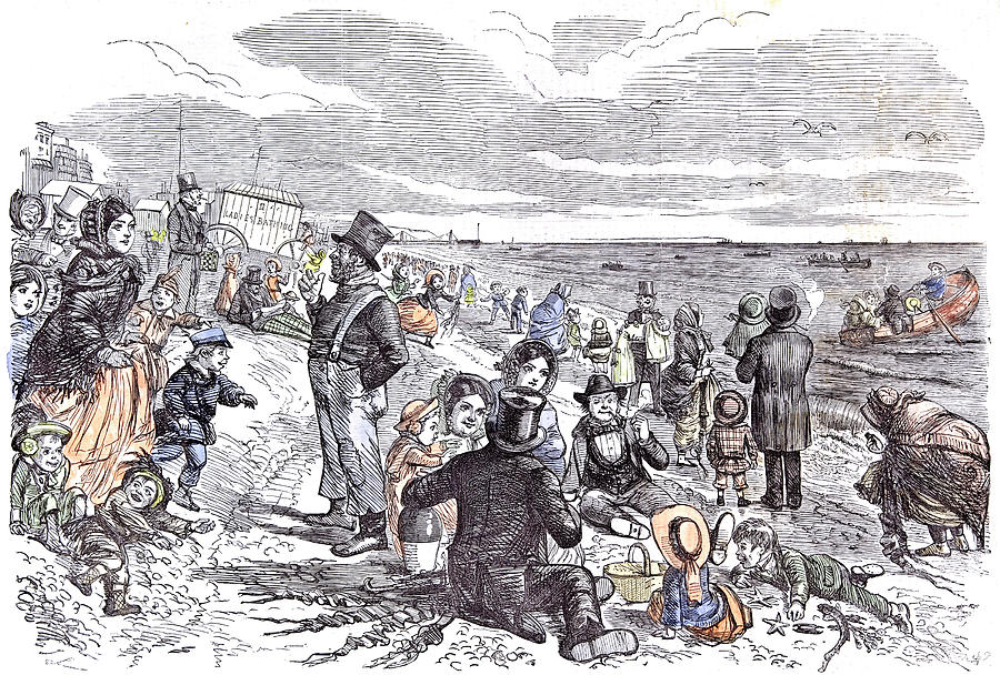 1856 Drawing - Eight Hours At The Sea-side J by English School
