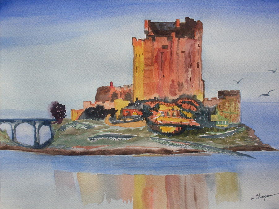 Scotland Painting - Eilean Donan Castle  Dornie Inverness Shire Scotland by Warren Thompson