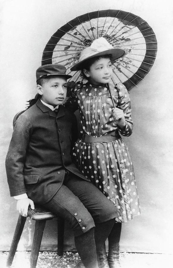 Albert Einstein Photograph - Einstein And His Sister Maja by Emilio Segre Visual Archives/american Institute Of Physics