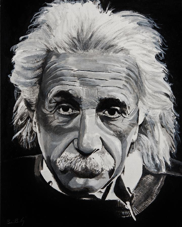 Einstein Painting By Brian Broadway
