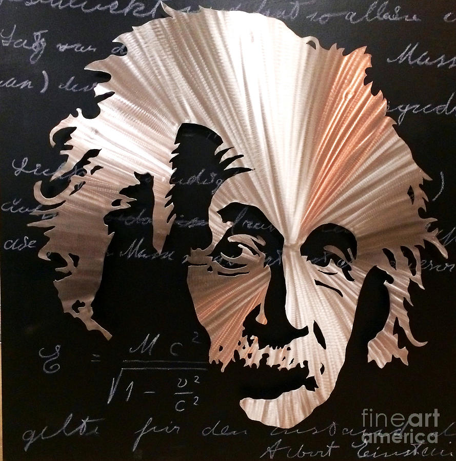 Einstein Mixed Media - Einstein by Chris Mackie