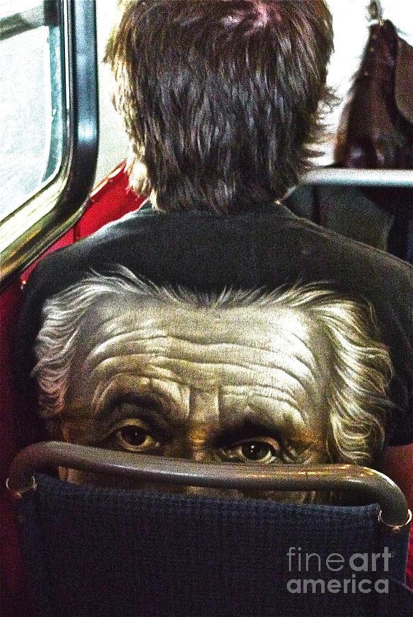 Einstein on the tram Digital Art by Leif Sodergren
