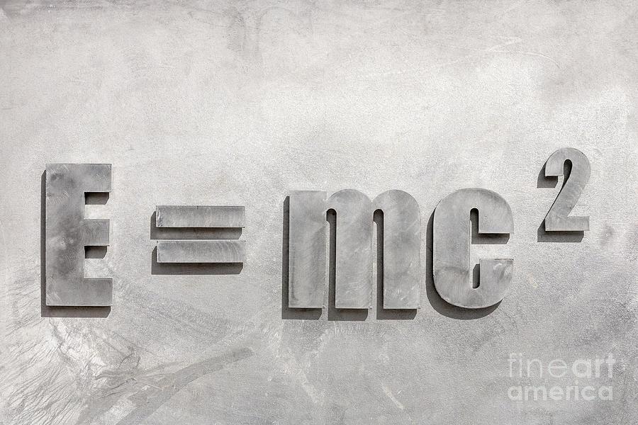E=mc2 Photograph - Einstein Sculpture Emc2 Canberra Australia by Colin and Linda McKie