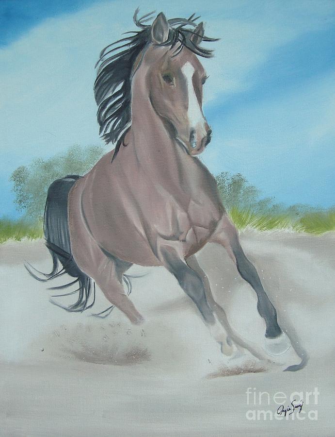 Horse Painting - El Caballo by Angela Melendez