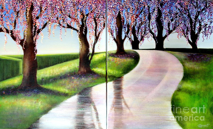 Arte Painting - El Camino De La Vida-1 by Carmen Junyent
