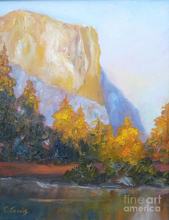 Yosemite Painting - El Capitan Light by Carolyn Jarvis