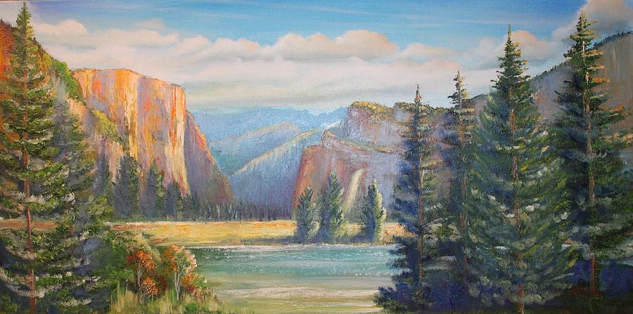 Yosemite Painting - El Capitan  Yosemite National Park by Remegio Onia