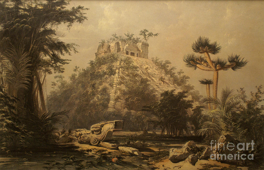 El Castillo At Chichen Itza By Frederick Catherwood Photograph By John Mitchell