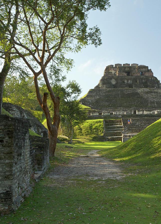 Ancient Photograph - El Castillo Pyramid, Xunantunich by William Sutton