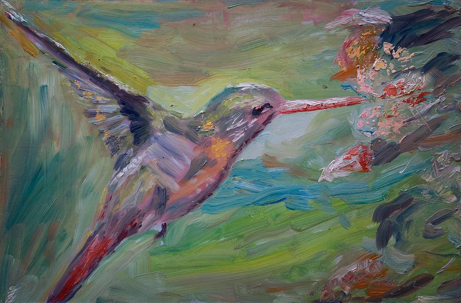 Oil Painting - El Colibri by Horacio Prada