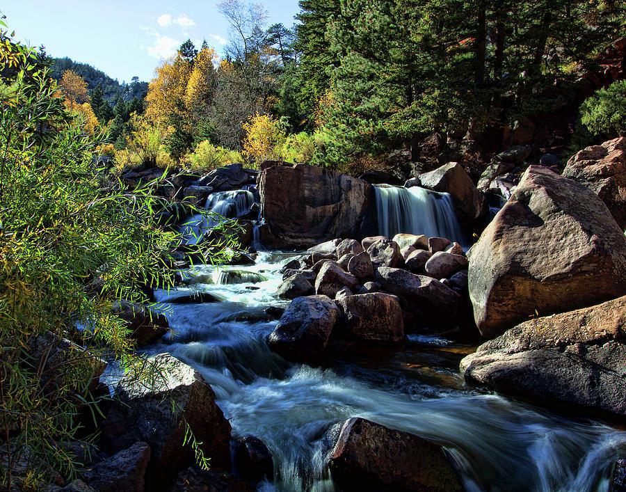 Autumn Colors Photograph - El Dorado Falls by Jim Garrison