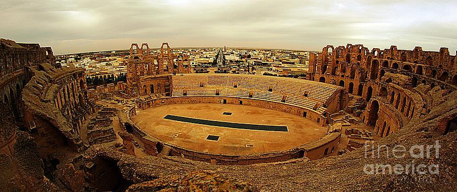 El Jem Photograph - El Jem Amphitheatre Tunisia by Amalia Suruceanu