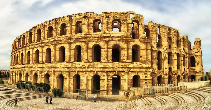 Ancien Photograph - El Jem Colosseum by Dhouib Skander
