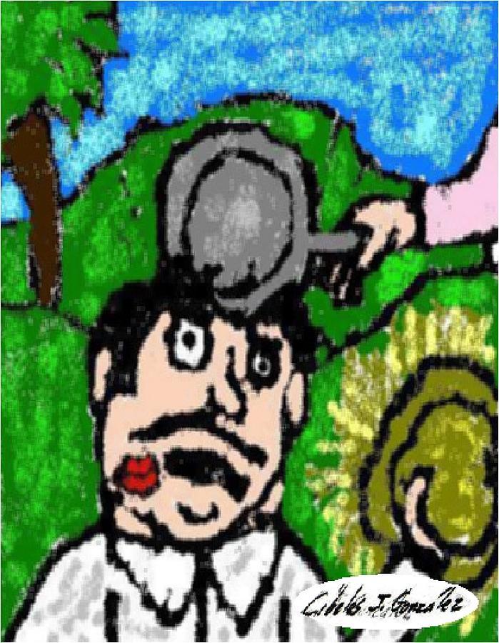 Puerto Rico Painting - El Jibaro Mujeriego-the Womanizing Jibaro by Cibeles Gonzalez