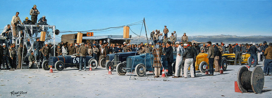 Hot Rod Painting - El Mirage by Ruben Duran
