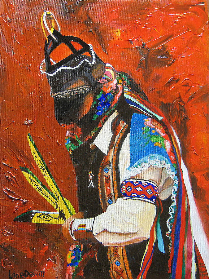 Matachines Painting - El Monarca by Lane DeWitt