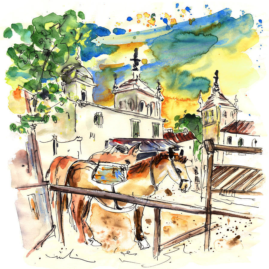 Travel Painting - El Rocio 02 by Miki De Goodaboom